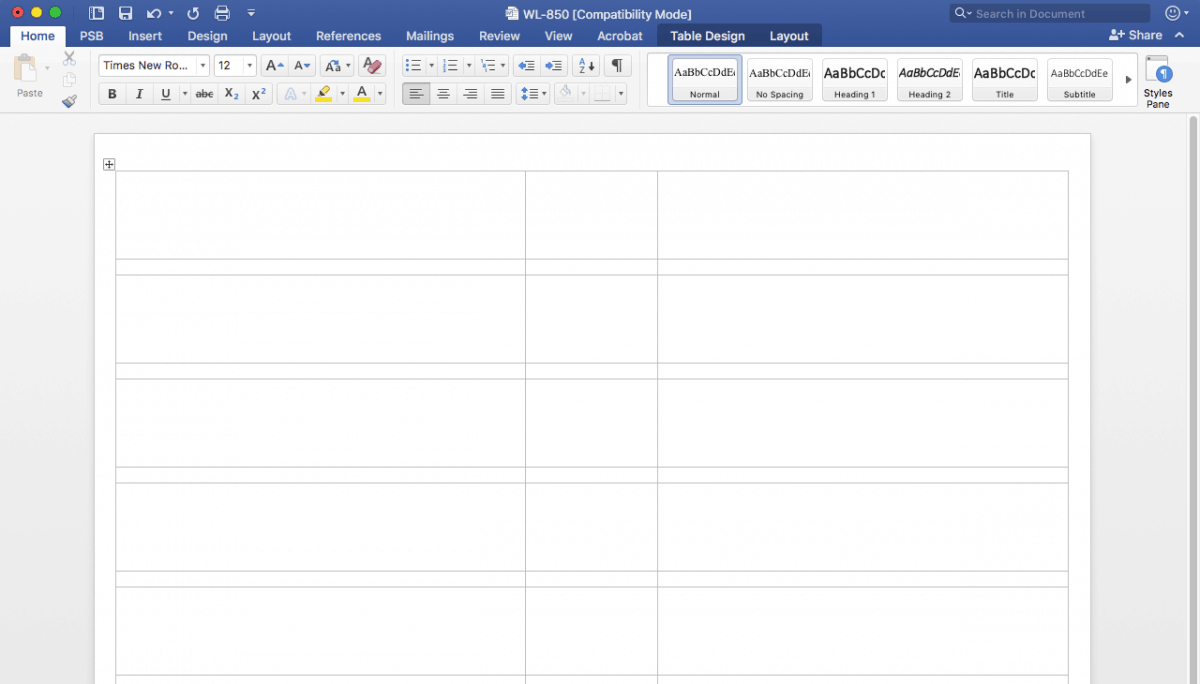 Creating File Folder Labels In Microsoft Word Within How To Set Up Label Template In Word