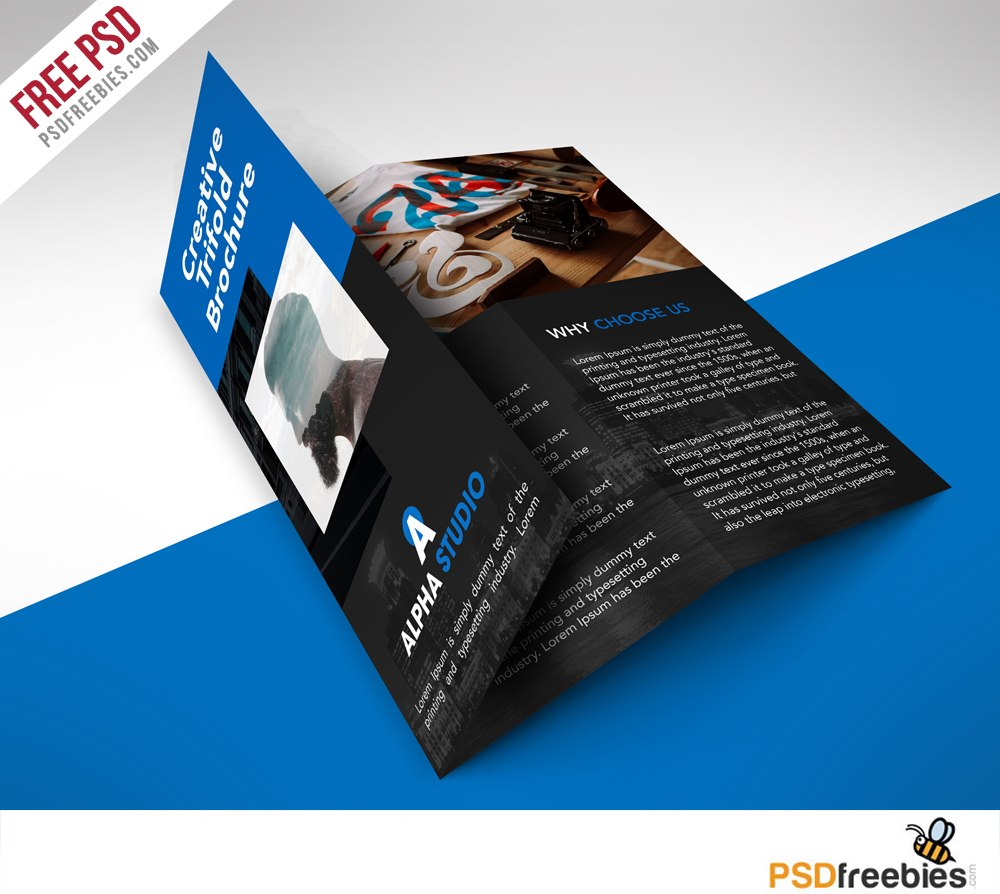 Creative Agency Trifold Brochure Free Psd Template  Psdfreebies With Regard To Free Tri Fold Business Brochure Templates