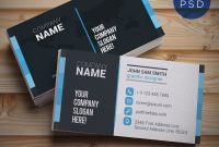 Creative And Clean Business Card Template Psd  Psdfreebies with Psd Name Card Template