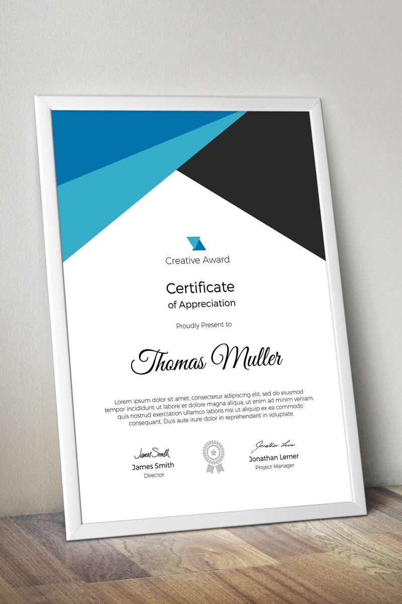 Creative Award Certificate Template Within Small Certificate Template