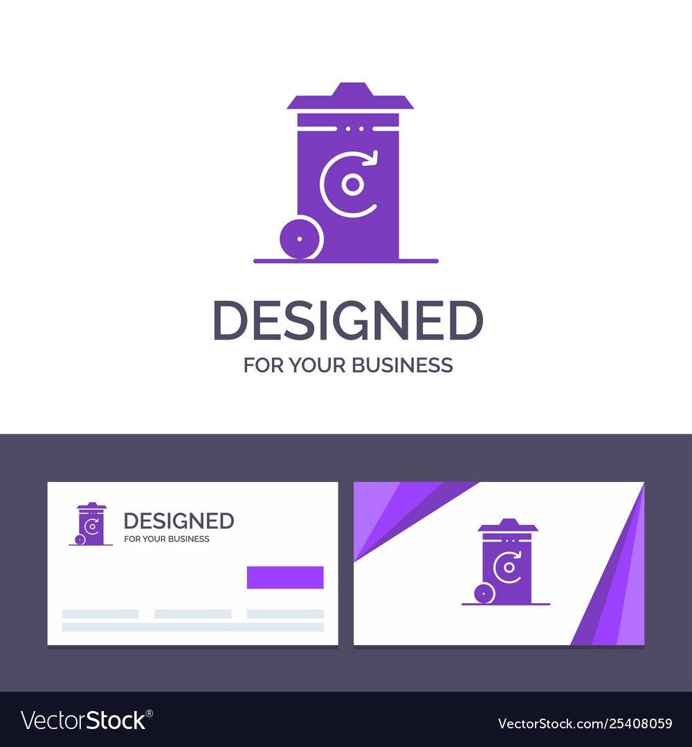 Creative Business Card And Logo Template Bin Vector Image For Bin Card Template