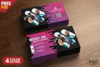 Creative Business Card Psd Templates  Psd Zone intended for Creative Business Card Templates Psd