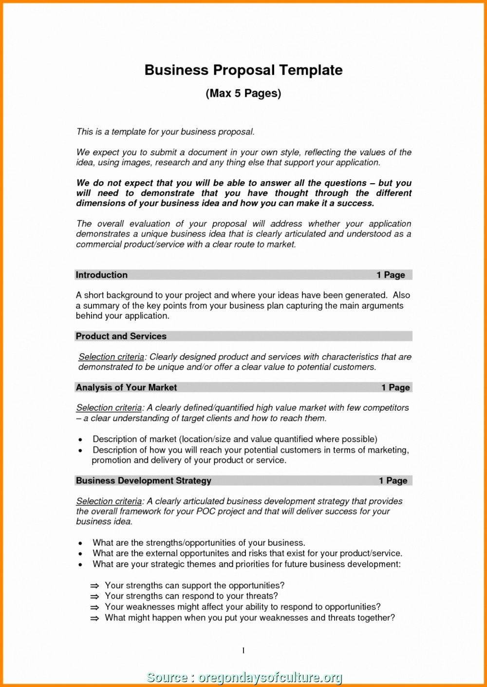 Creative Business Idea Proposal Template Ideas  Tiger Growl Intended For Business Idea Template For Proposal