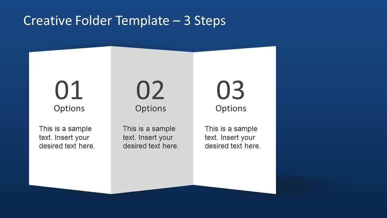 Creative Folder Template Layout For Powerpoint  Slidemodel Inside Quad Fold Brochure Template