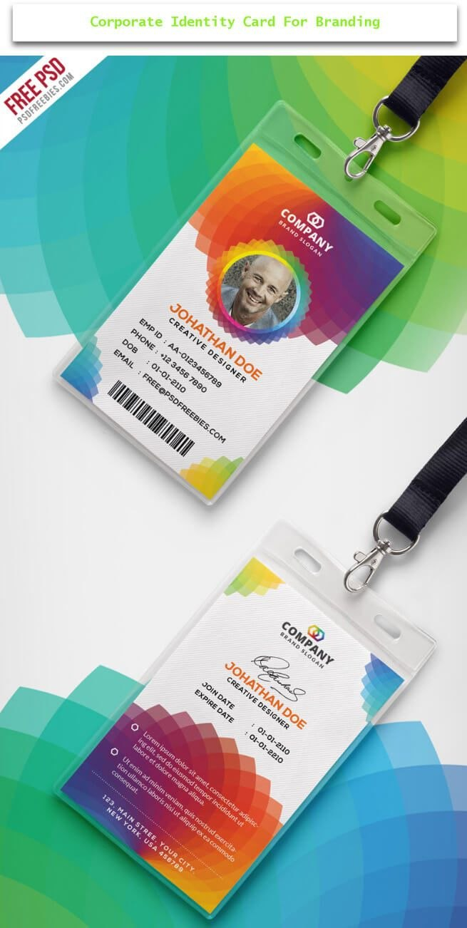 Creative Id Card Design Examples With Free Download  Design Desk Pertaining To Conference Id Card Template