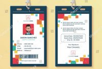 Creative Id Card Template Perfect For Any Types Of Agency Within Media Id Card Templates