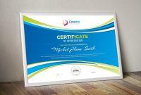 Creative Landscape Certificate Design Template   Certificates regarding Landscape Certificate Templates