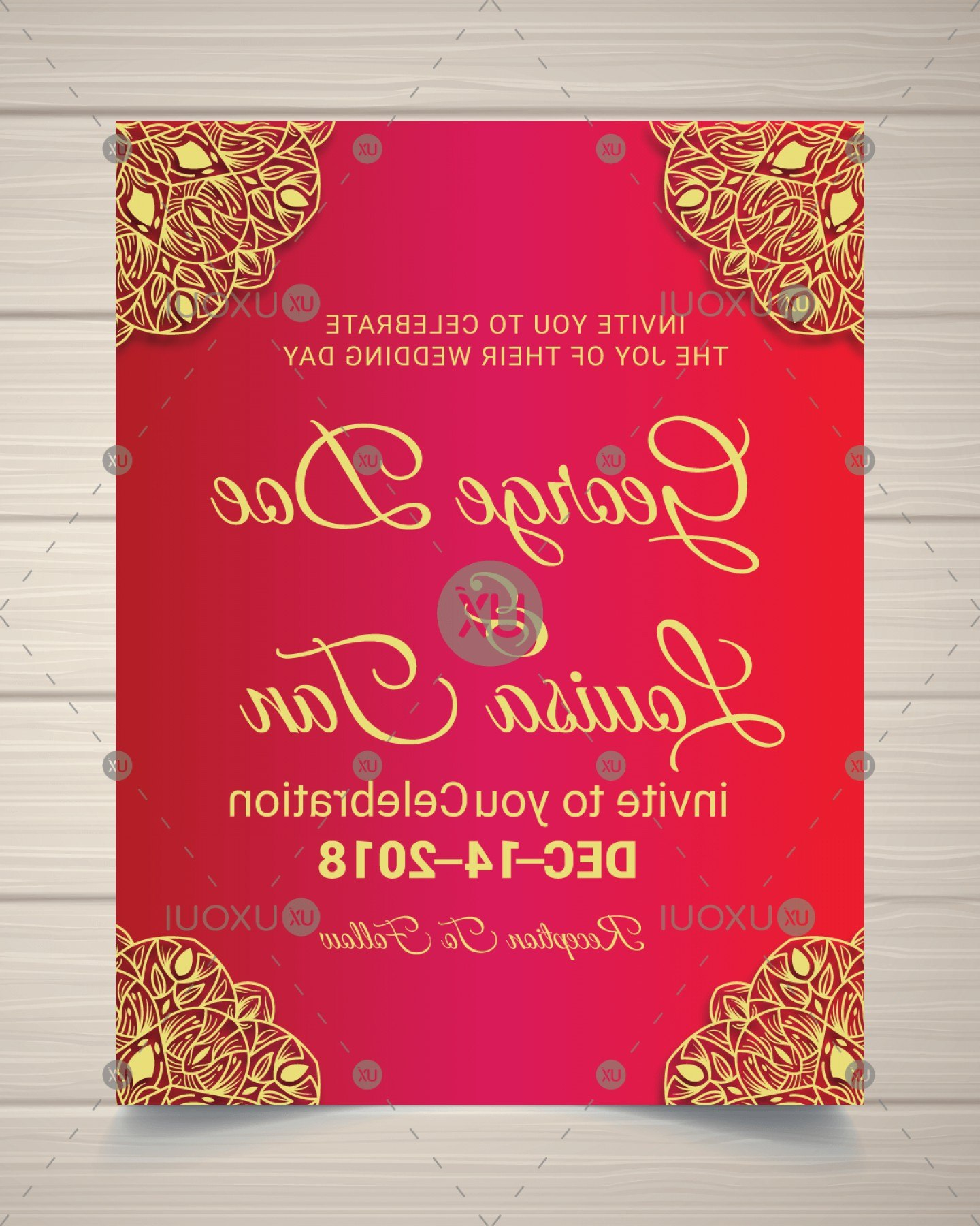 Creative Wedding Invitation Card Design Template In Mandala Style Throughout Indian Wedding Cards Design Templates