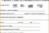 Credit Card Authorization Form Template  Template Business regarding Credit Card Billing Authorization Form Template