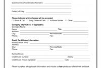 Credit Card Authorization Template Ideas Best Western Form Pdf intended for Hotel Credit Card Authorization Form Template
