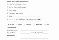 Credit Card Form Template Luxury Free Hotel Credit Card with regard to Hotel Credit Card Authorization Form Template