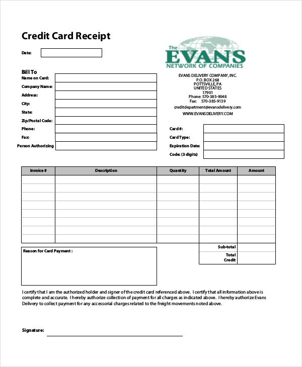 Credit Card Receipt Templates  Pdf  Free  Premium Templates Inside Credit Card Receipt Template