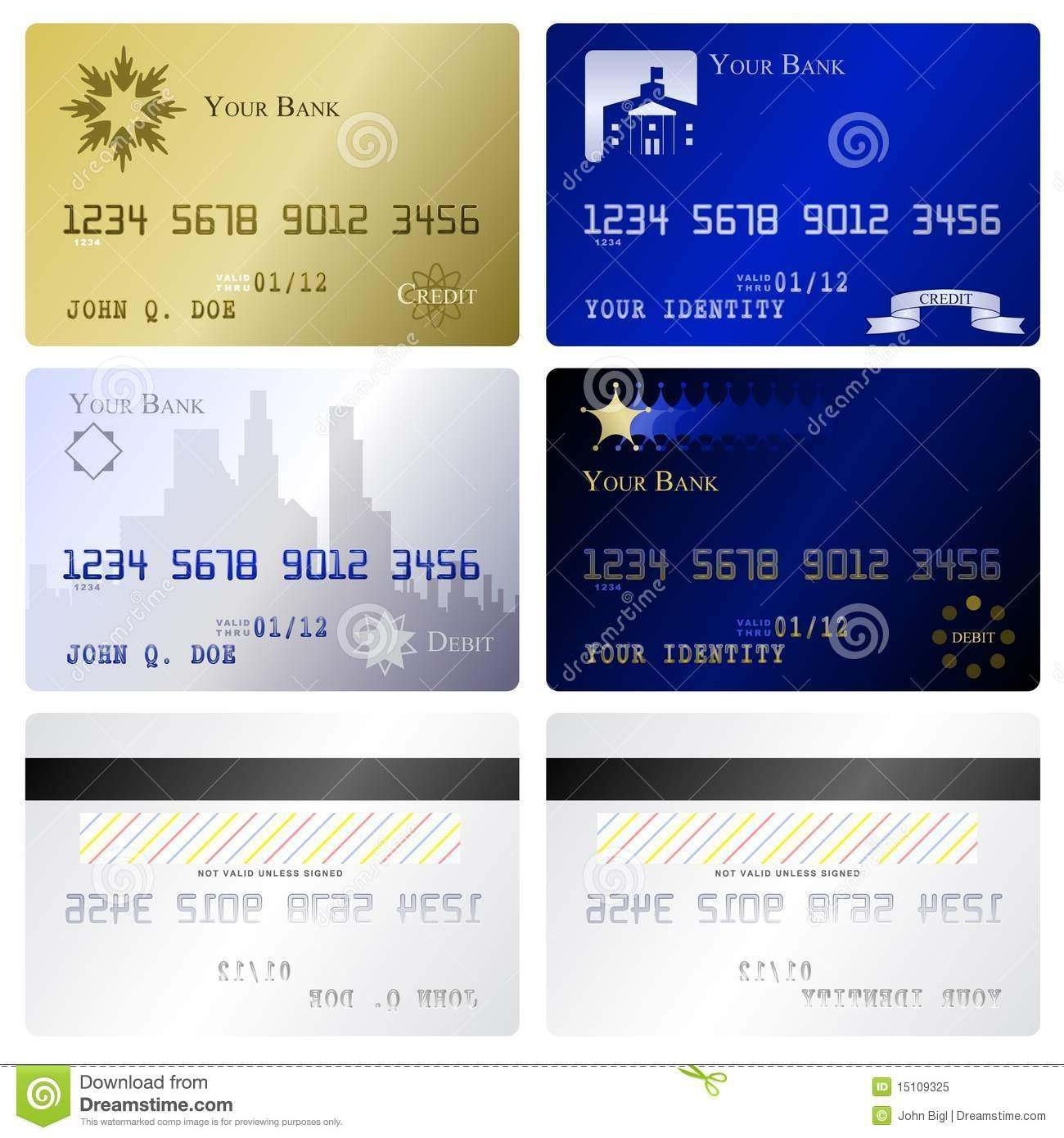 Credit Card Templates Stock Vector Illustration Of Debit Throughout Credit Card Template For Kids
