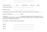 Creditcardauthorizationformtemplate  Credit Card Authorization regarding Order Form With Credit Card Template