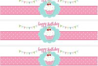 Cupcake Birthday Party With Free Printables  Party Ideas intended for Birthday Water Bottle Labels Template Free