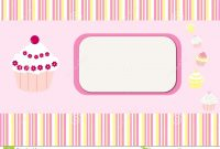 Cupcakes Stripes Card Background Stock Illustration  Illustration within Cake Business Cards Templates Free