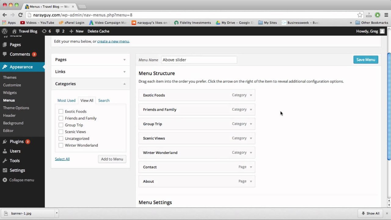 Custom Menus  Drop Down Menus  WordPress  Youtube Pertaining To WordPress Custom Menu Template