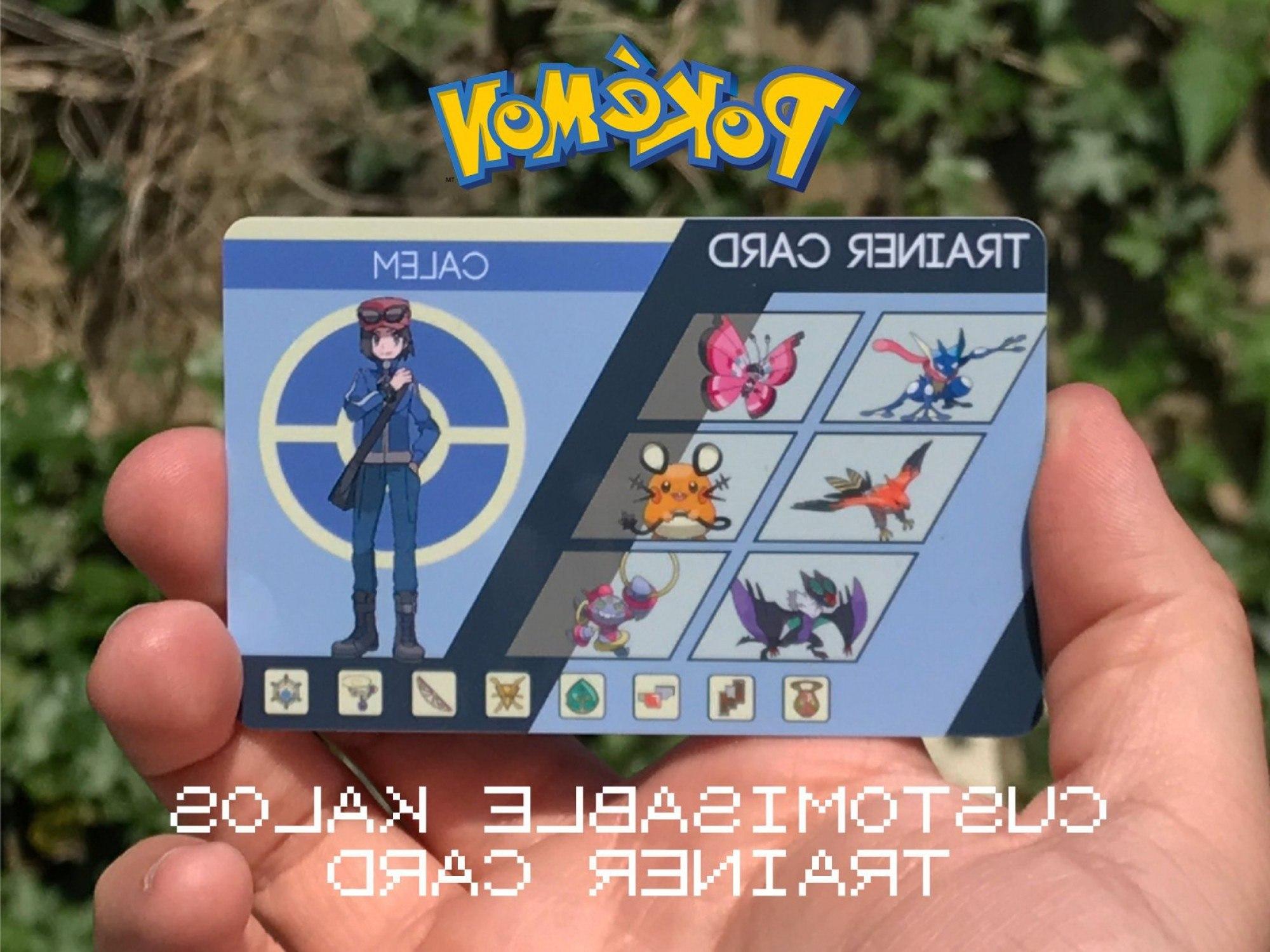 Custom Pokemon Trainer Card Kalos Design  Bestpaperdom Regarding Pokemon Trainer Card Template