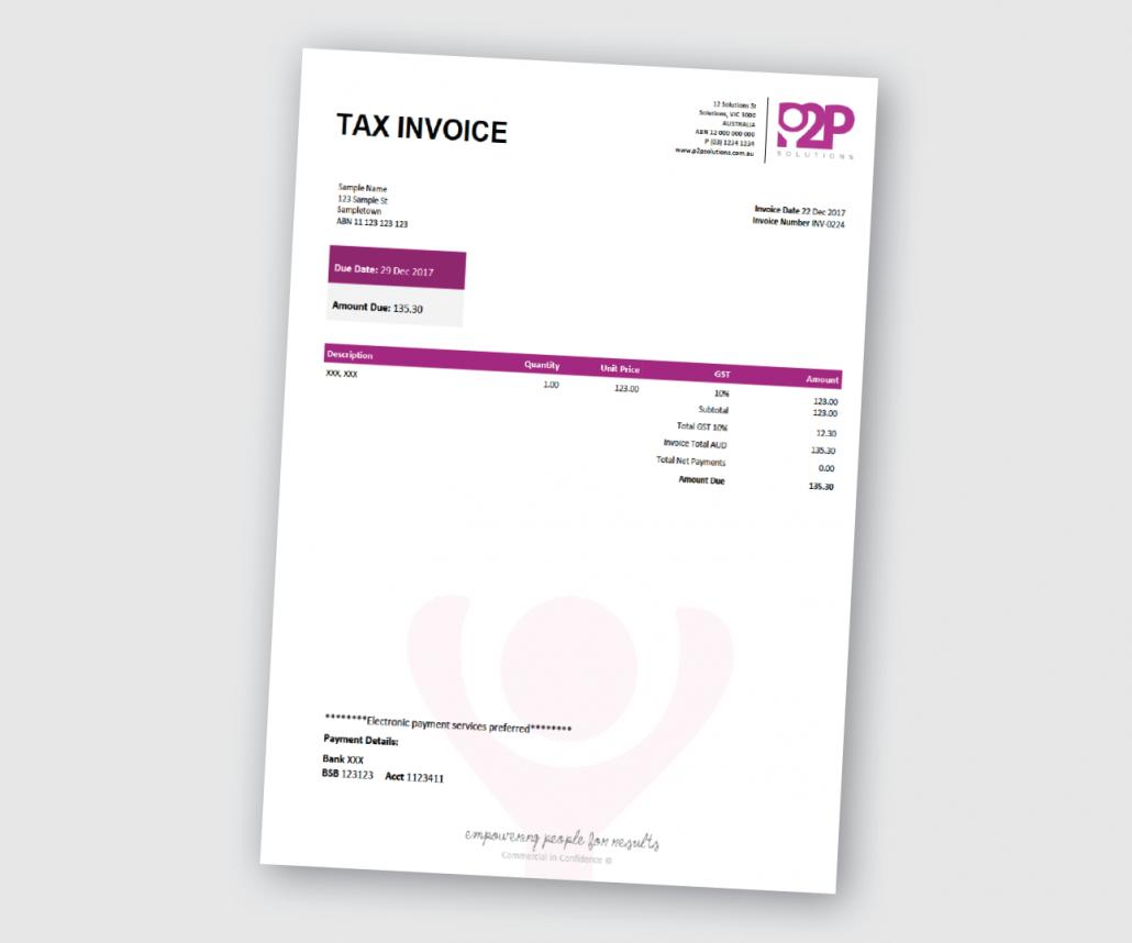 Custom Xero Templates Designed For Business  Docx Branding Themes Within Xero Custom Invoice Template