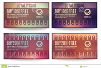 Customer Loyalty Card Templates Stock Vector  Illustration Of inside Customer Loyalty Card Template Free