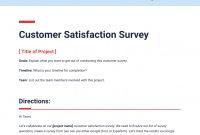 Customer Satisfaction Survey Template  Bitai  Document with Customer Satisfaction Report Template