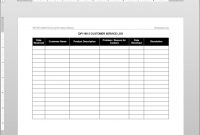 Customer Service Log Iso Template  Qp inside Customer Contact Report Template