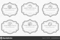 Customizable Black White Pantry Label Collection Vintage Packaging with Black And White Label Templates