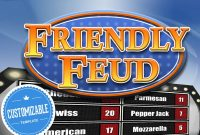 Customizable Friendly Feud Powerpoint Template  Family Feud Style Game  Show Mac Pc And Ipad Compatible pertaining to Family Feud Powerpoint Template Free Download