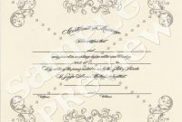 Customized Commemorative Certificate Ready For Framing Option B pertaining to Commemorative Certificate Template