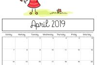 Cute April  Calendar Printable Template For Preschoolers regarding Blank Calendar Template For Kids