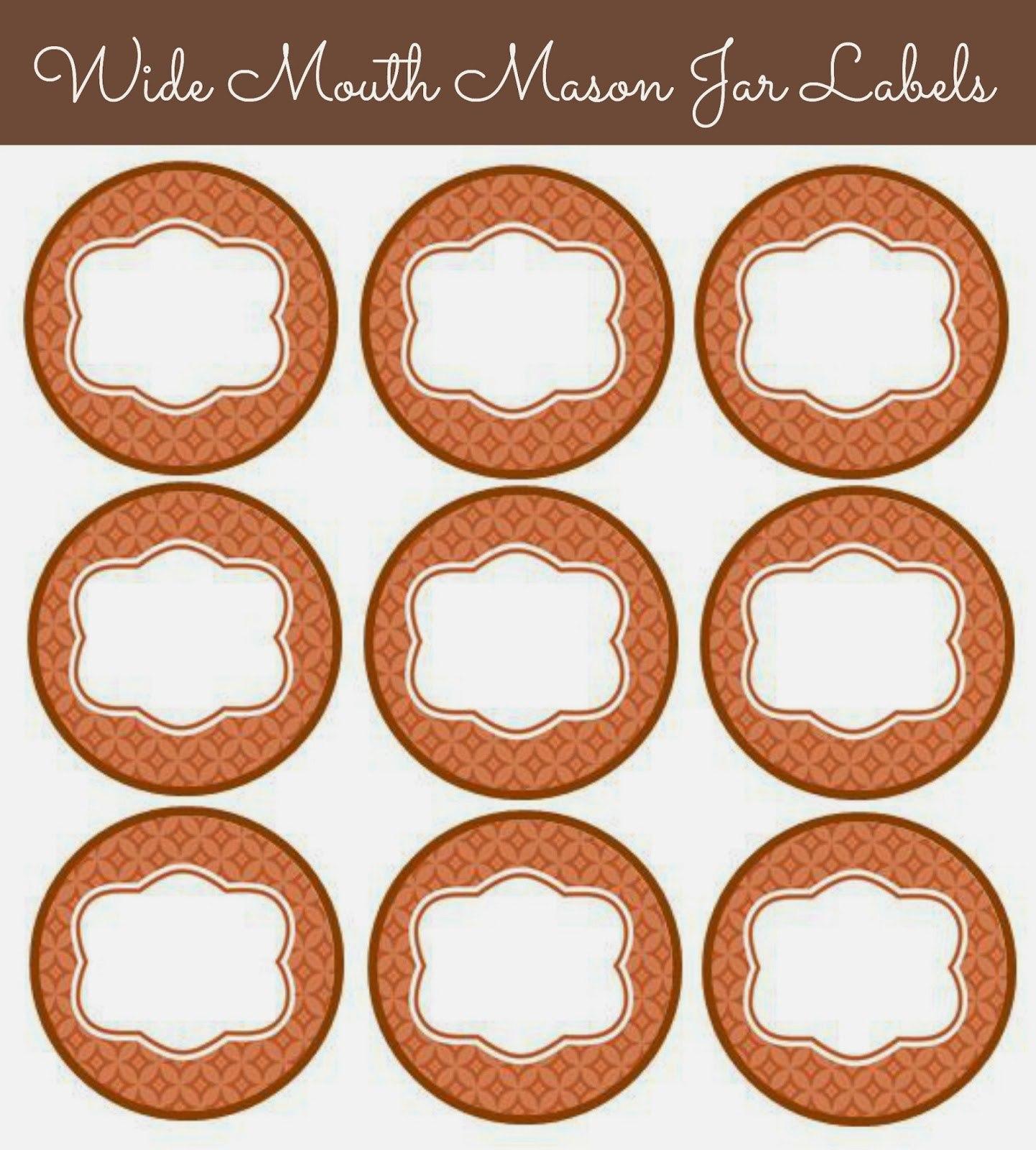 Cute Mason Jar Labels  Kittybabylove In Mason Jar Label Templates
