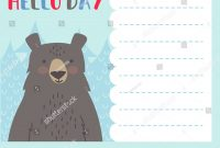 Cute Notes Card Winter Vector Illustrations Stockvektorgrafik for Christmas Note Card Templates