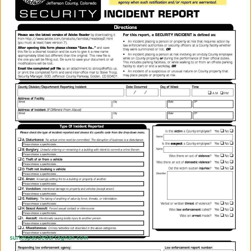 Cyber Security Incident Report Template Computer Response National With Computer Incident Report Template