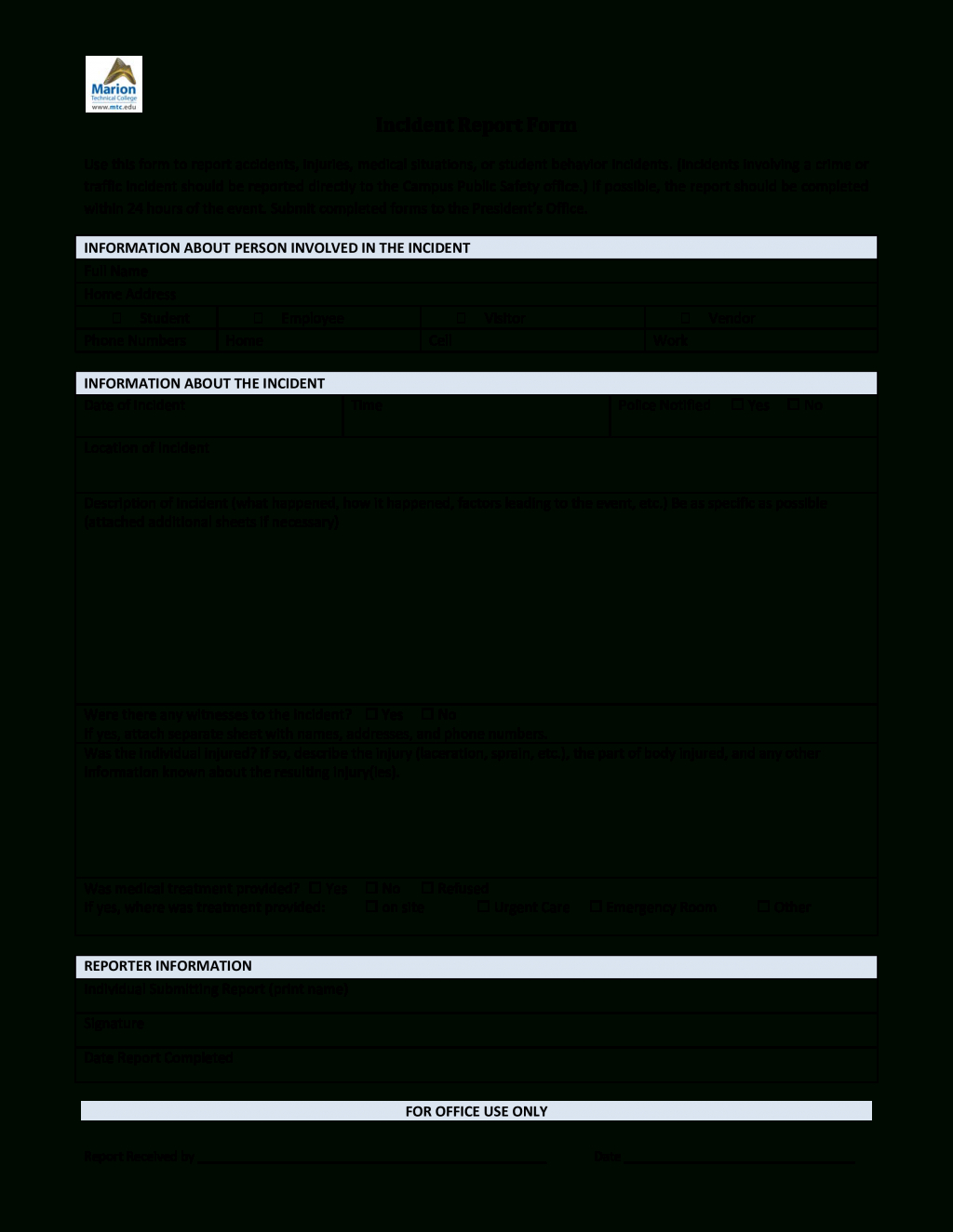 Cyber Security Incident Report Template It Itil Format Data For Incident Report Template Itil