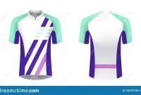 Cycling Jersey Mockup Stock Vector Illustration Of Modern intended for Blank Cycling Jersey Template