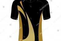 Cycling Jersey Mockup Tshirt Sport Design Stock Vector Royalty Free in Blank Cycling Jersey Template