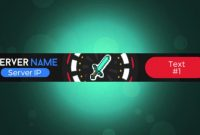 D Animated Gif Minecraft Server Banner throughout Minecraft Server Banner Template