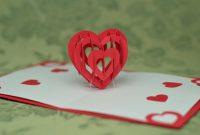 D Heart Pop Up Card Template in Heart Pop Up Card Template Free