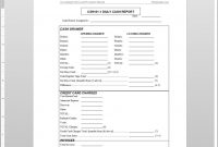 Daily Cash Report Template intended for End Of Day Cash Register Report Template