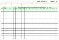 Daily Machine Production Report intended for Machine Shop Inspection Report Template