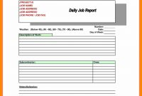 Daily Project Report Format  Lobo Development within Machine Breakdown Report Template