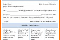 Daily Work Report Format Sample  Iwsp intended for Daily Work Report Template