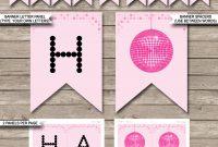 Dance Party Banner Template  Disco  Birthday Banner  Editable Bunting regarding Diy Birthday Banner Template