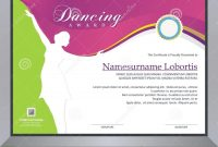 Dancing Award Stock Vector Illustration Of Competition intended for Dance Certificate Template