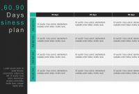 Day Business Plan Template For Powerpoint  Keynote with 30 60 90 Day Plan Template Powerpoint