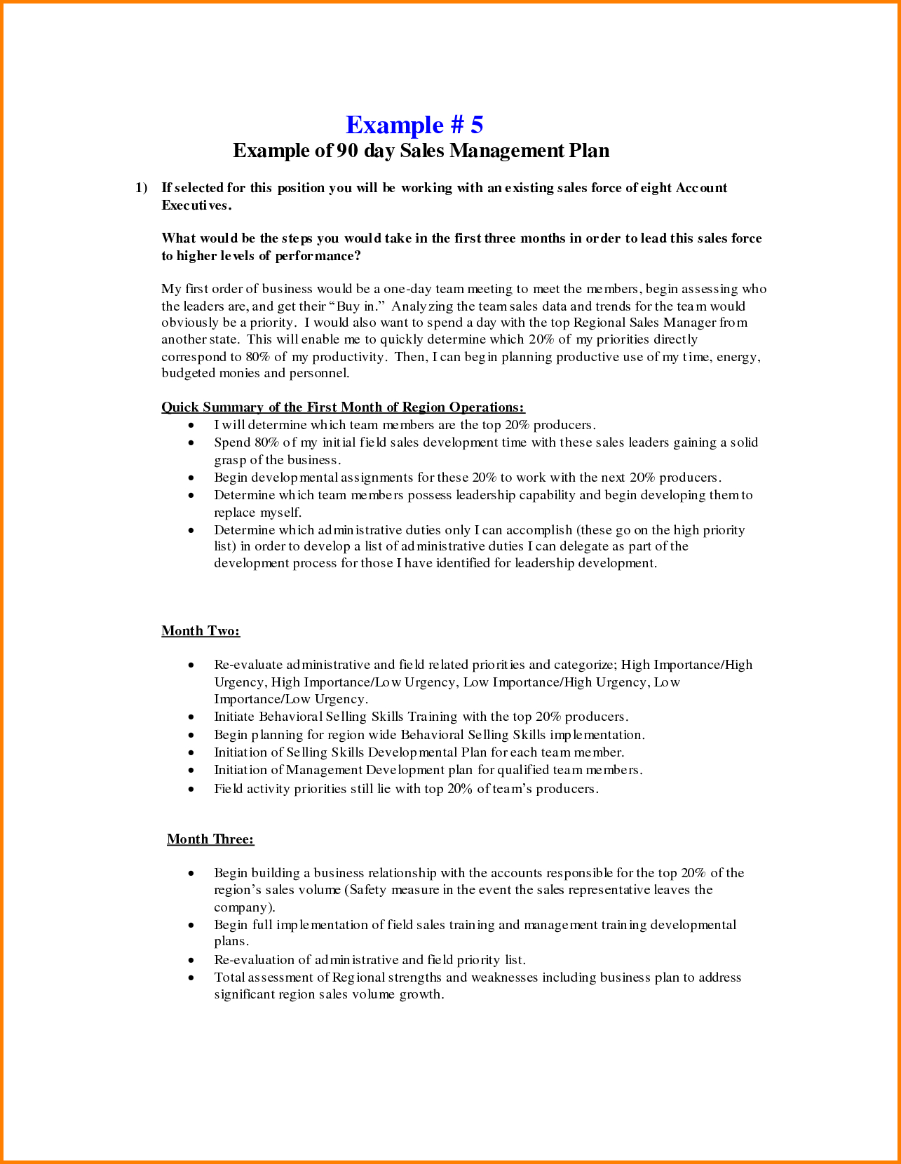 Day Management Plan Template Fearsome    Templates Sales For Business Plan For Sales Manager Template