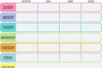 Day Weekly Planner Template  Yeniscaleco  Day Weekly Planner inside 7 Day Menu Planner Template