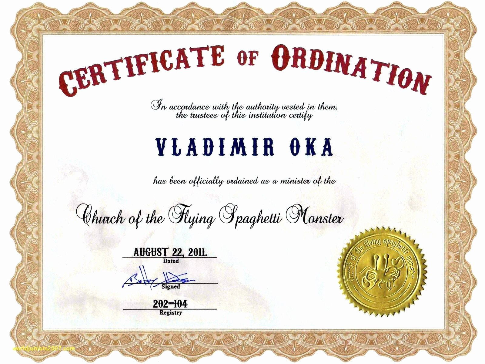 Deacon Ordination Certificate Template Best Of Free Printable Within Certificate Of Ordination Template