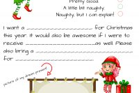 Dear Santa Fill In Letter Template with Santa Letter Template Word