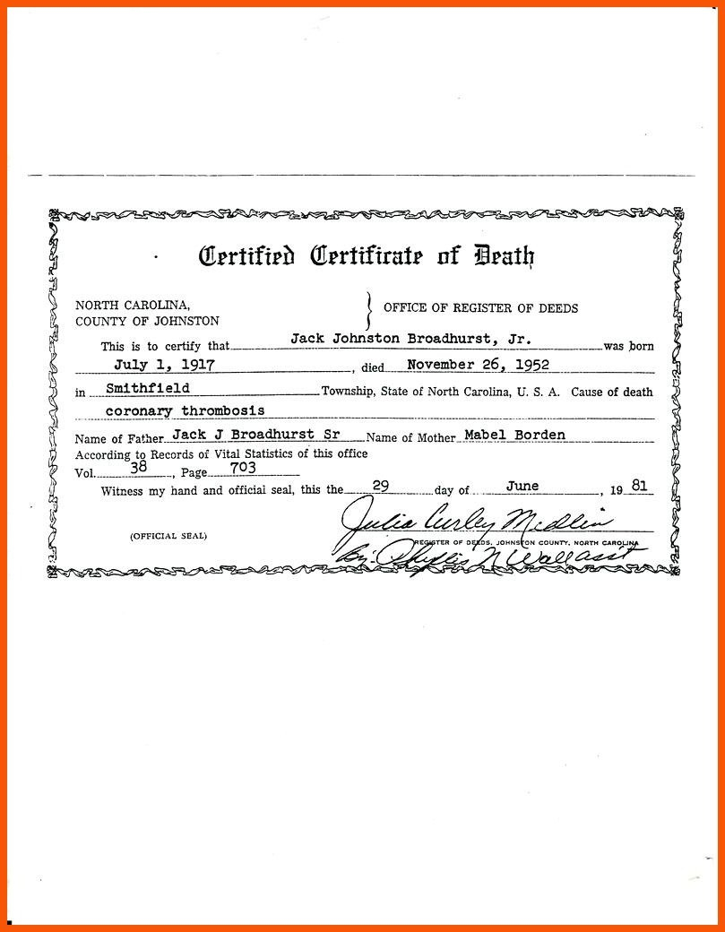 Death Certificate Template  Iwsp For Baby Death Certificate Template